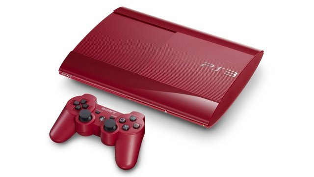 PlayStation 3 Super-Slim Granat-Rot