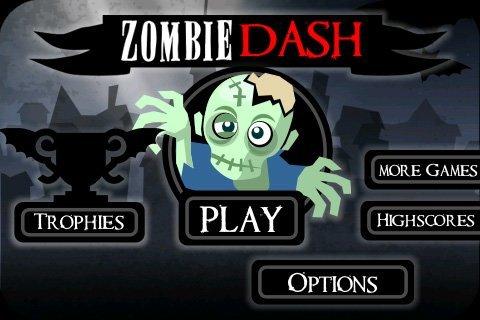 Zombie Dash – Startbildschirm