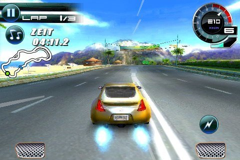 Asphalt 5 – iPhone-Screenshot