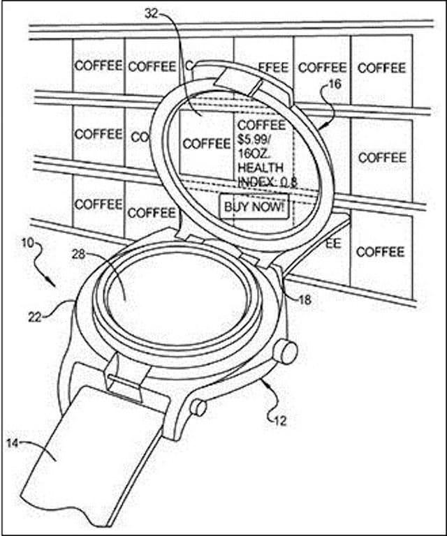 Google Smartwatch Patentzeichnung