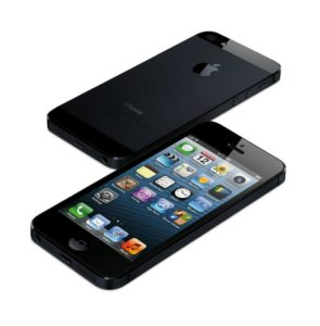iPhone 5 in Schwarz - Vorder- und Rückseite