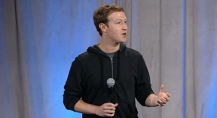 Mark Zuckerberg während der Facebook home Präsentation