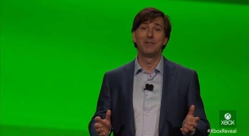Don Mattrick auf dem Xbox Reveal Event