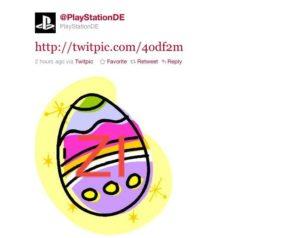 PSN Down und Sony twittert ein Osterei