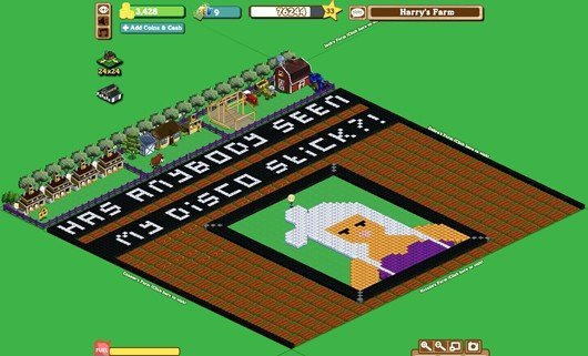 Lady Gaga in Farmville
