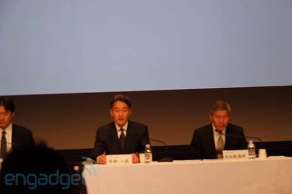 Kazuo Hirai auf der Sony Pressekonferenz zum PSN-Hack, Foto: engadget