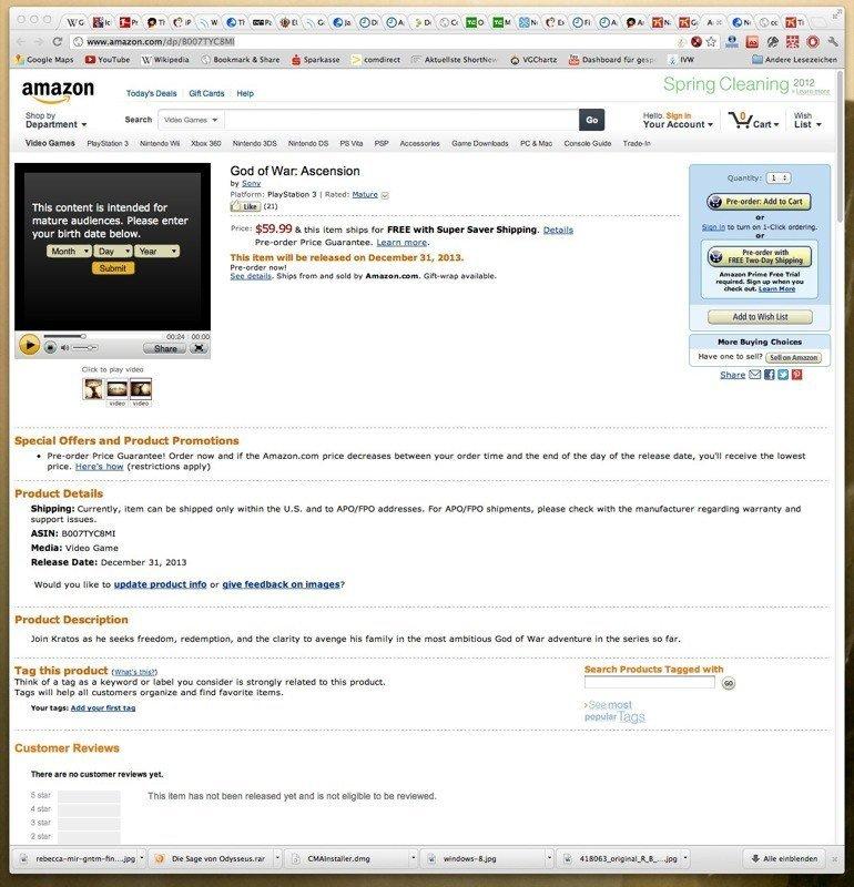God of War Ascension - Amazon-Produktseite enthüllt Trailer