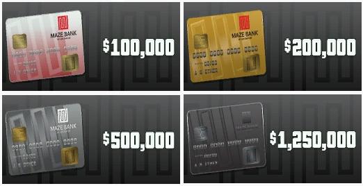 GTA Online – Cash Cards