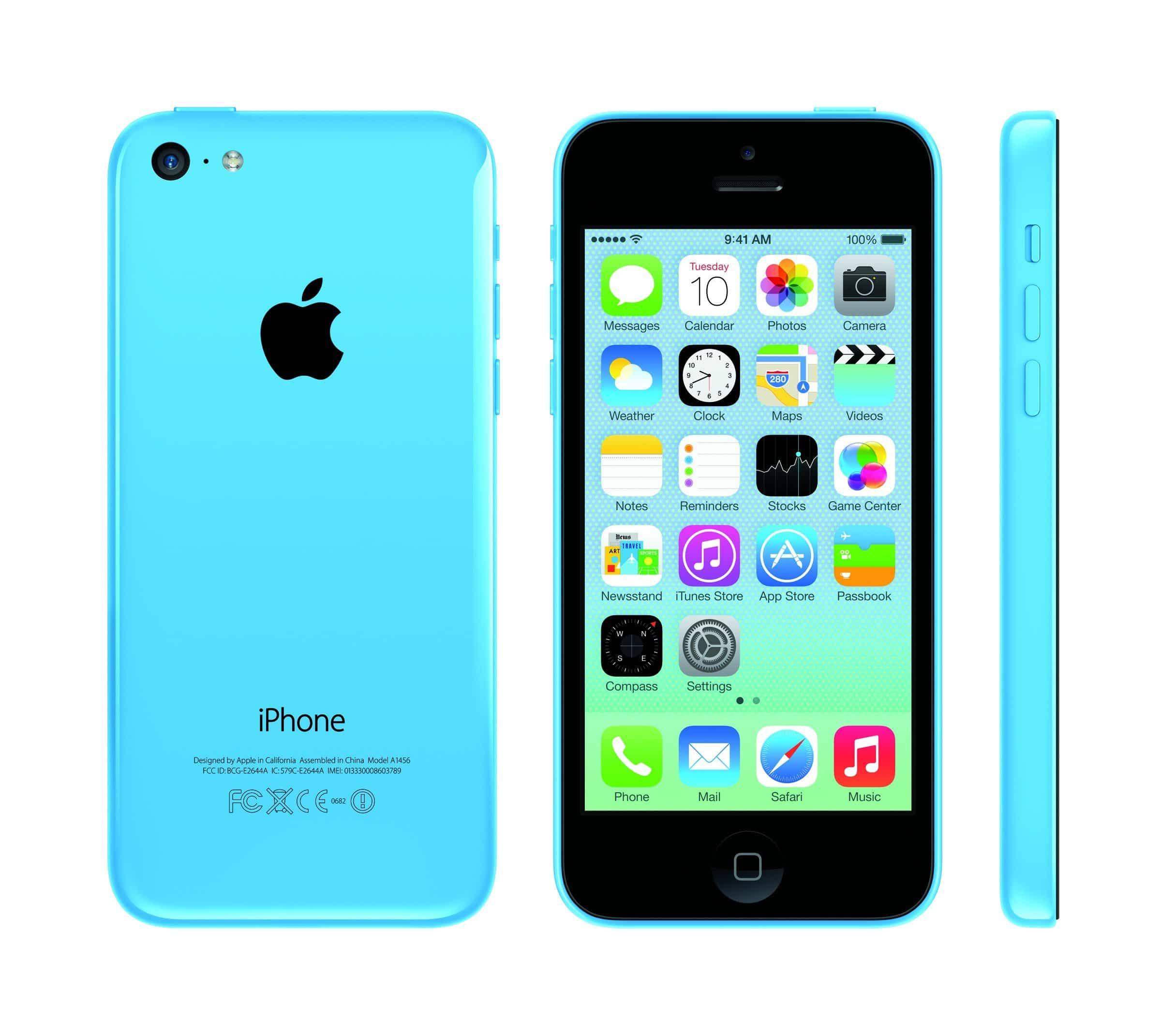 iPhone 5c in Blau