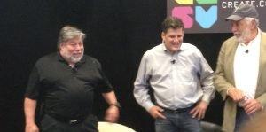 Szeve Wozniak und Nolan Bushnell aut C2SV-Konferenz