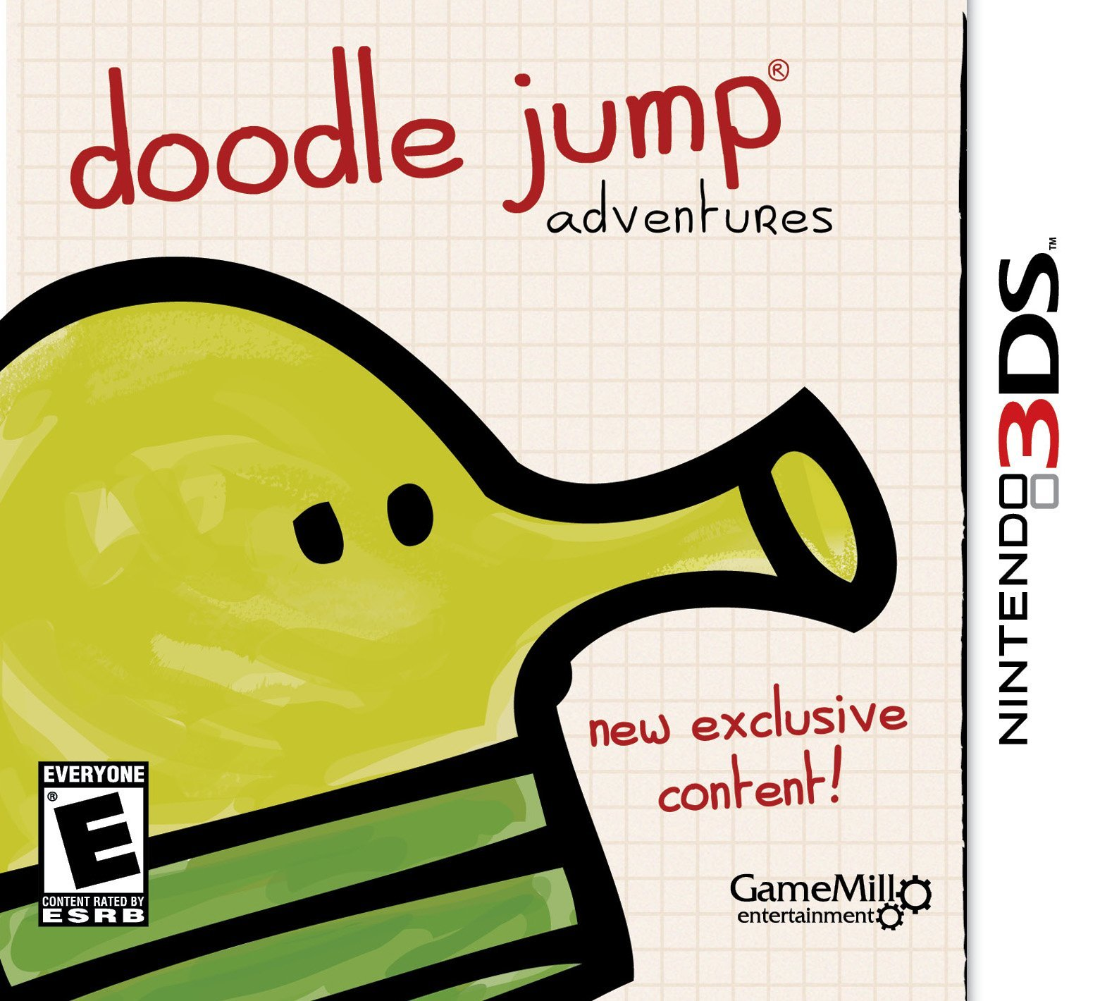 Doodle Jump Adventures - Cover 3DS