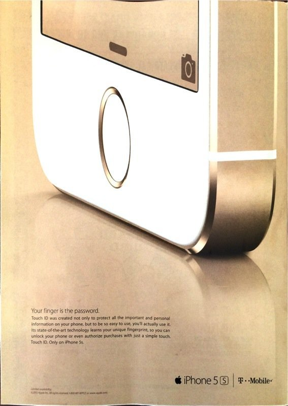 Print-Werbung zum iPhone 5s in The New Yorker