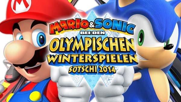 Mario & Sonic bei den Olympischen Winterspielen Sotschi 2014 Logo