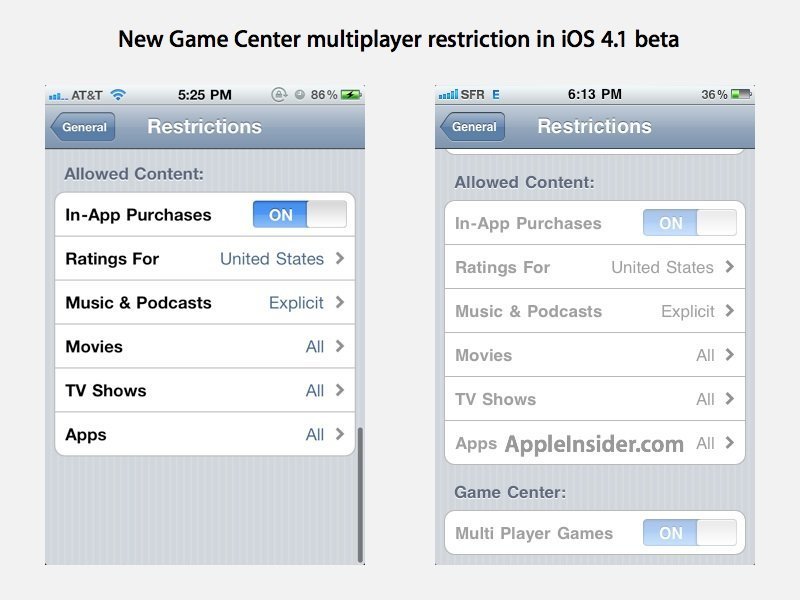 Game-Center-Vorbereitungen in iOS 4.1