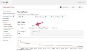 Google Webmaster Tools Smartphone Crawling-Fehler