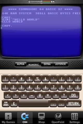 """C64-Emulator """"Commodore 64"""" für iPhone und iPod touch veröffentlicht"""