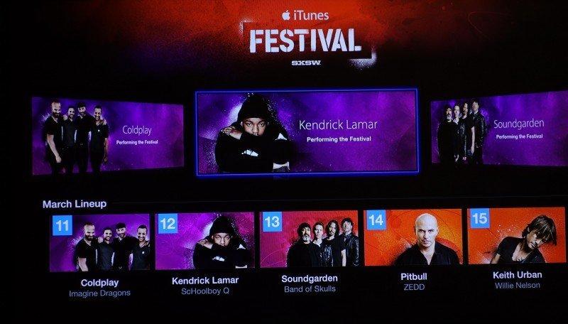 Apple TV mit neuem Kanal für iTunes Festival aktualisiert