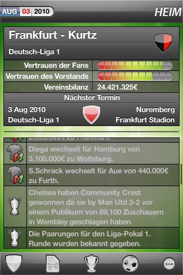 Fußballmanager MyFC DACH Edition für Android