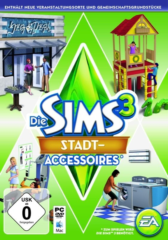 Die Sims 3: Stadt Accessoires - Cover PC