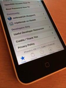 iOS 7.1.1 jailbroken auf iPhone 5c