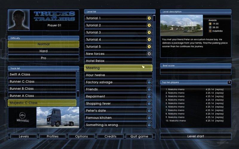 LKW-Rangier-Simulator - Screenshot