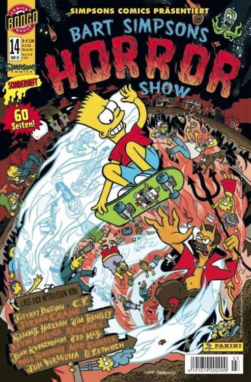 Test: Bart Simpsons Horror Show #14
