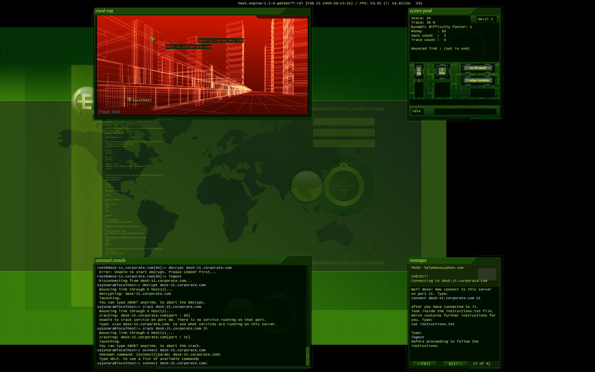 Hacker Evolution: Untold - Screenshot