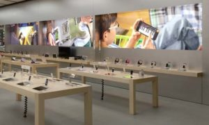 Apple Store mit neuem Interieur