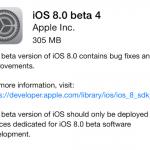 iOS 8 - Beta 4