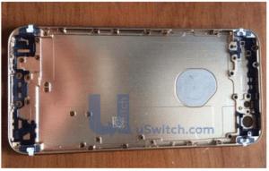 iPhone 6 - Rückseite mit durchscheinendem Apple-Logo