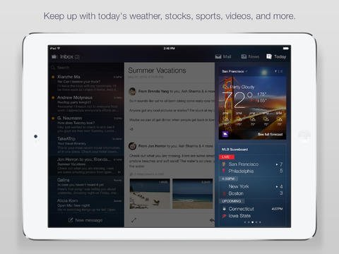 Yahoo Mail 3.1.0 für iPad