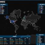 Echtzeit-Weltkarte DDoS von Norse