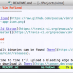 vimR - Screenshot