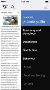 Wikipedia - Screenshot