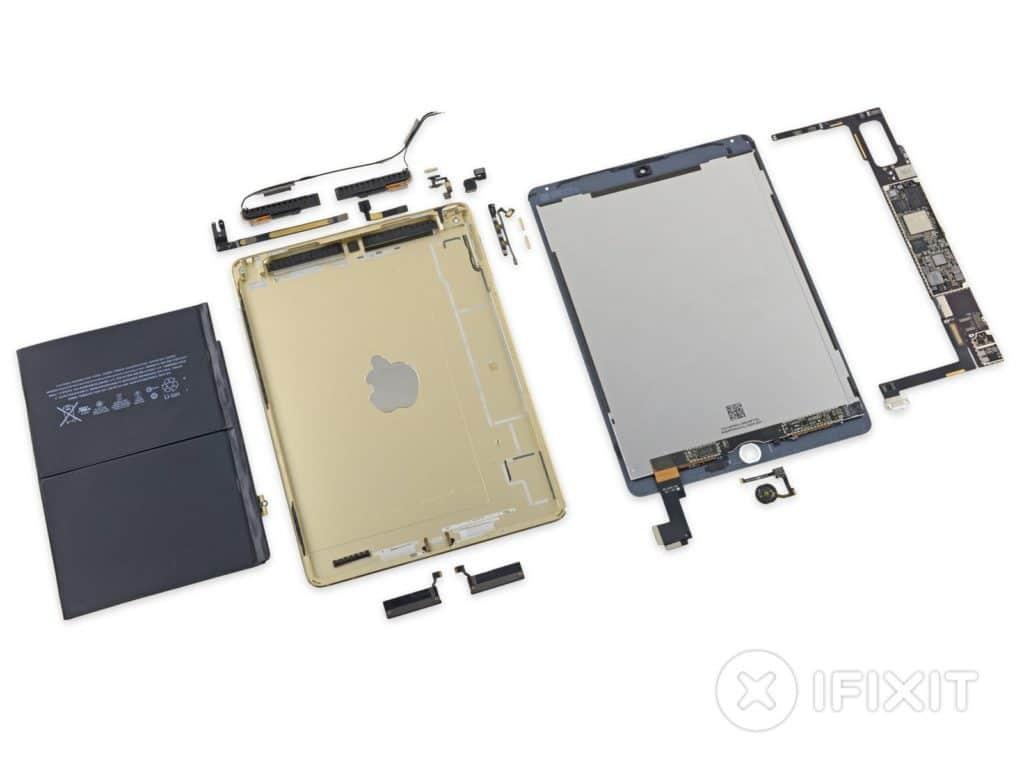 iPad Air 2 auseinandergenommen