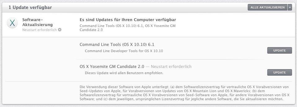 OS X 10.10 - Golden Master 2.0