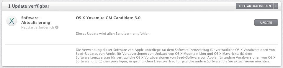 OS X 10.10 - GM Candidate 3.0