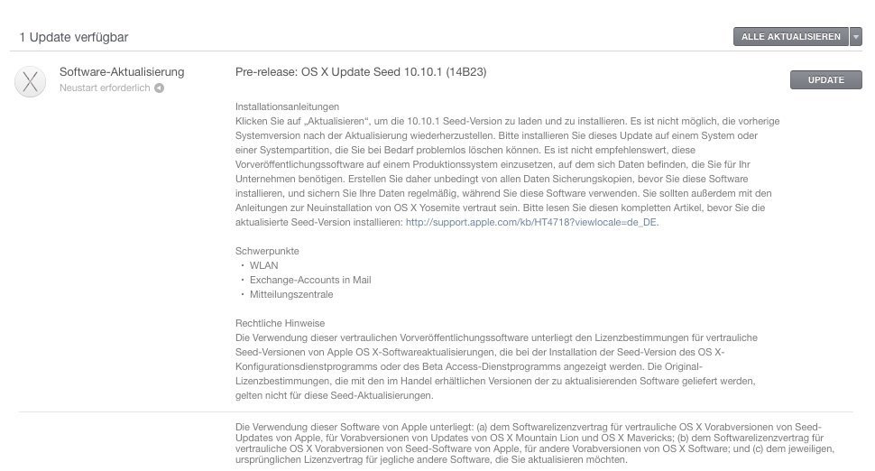 OS X 10.10.1 - Beta 2