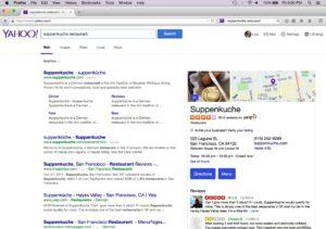 Yahoo - Firefox-Suchergebnis