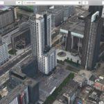 Apple Maps - Flyover-Ausschnitt Rotterdam