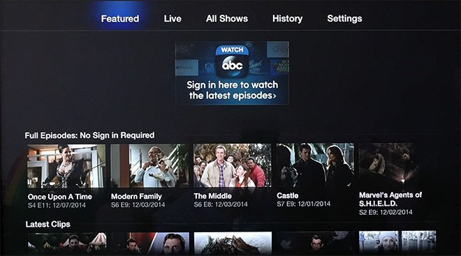Watch ABC auf Apple TV
