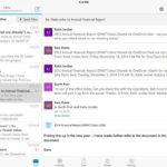 Microsoft Outlook - iPad-Screenshot