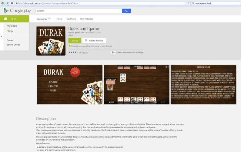 Durak card game - Google Play Store