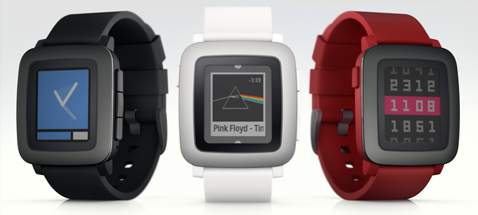 Pebble Time in 3 Farben
