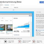 Datenkomprimierung - Chrome Web Store