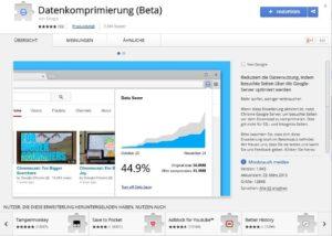 Datenkomprimierung - Chrome Web Store