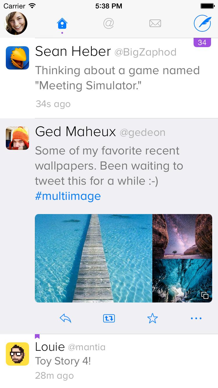 Twitterrific - Homebildschirm