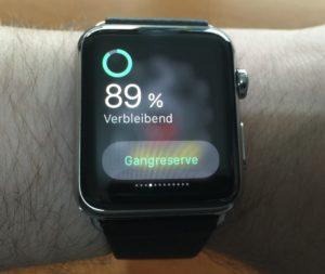 Apple Watch - Akkulaufzeit 89% übrig