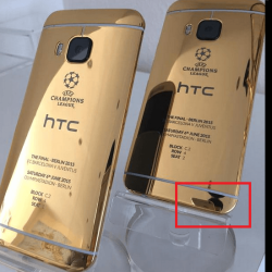 Champions League: HTC One M9 mit iPhone fotografiert