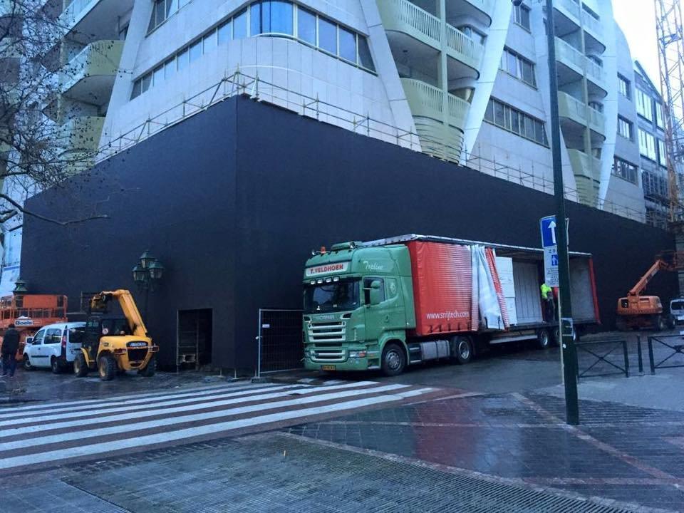 Baustelle von Apple Store in Brüssel